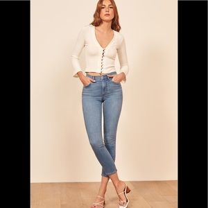 NWT Reformation High and Skinny Jeans
